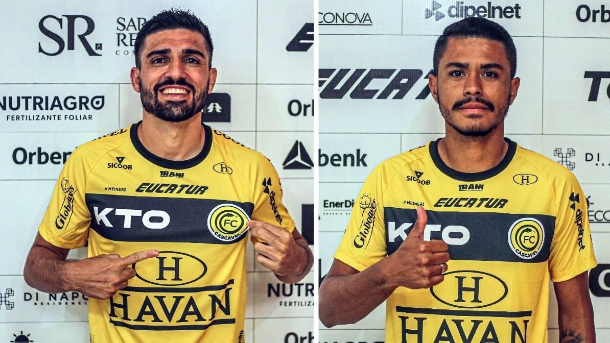 FC Cascavel apresenta centroavante Peu e zagueiro Lucas Oliveira para a temporada 2021