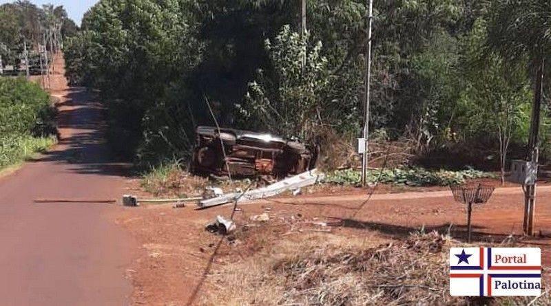 Grave acidente é registrado na Estrada da Melancia em Palotina
