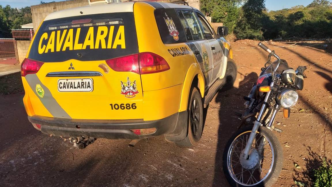 Polícia Militar recupera motocicleta furtada na casa de vítima de homicídio