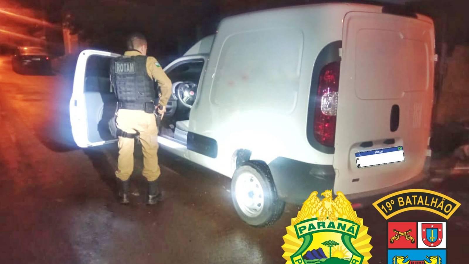 Veículo furtado em Cascavel é recuperado pela PM em bairro de Toledo