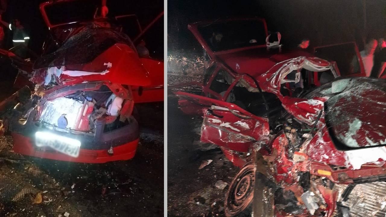Homem morre e outro fica em estado grave após colisão entre carro e ônibus em Boa Vista da Aparecida