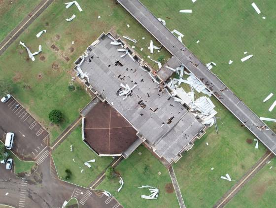 Todos por Foz: Campus da Unioeste será reconstruído após vendaval