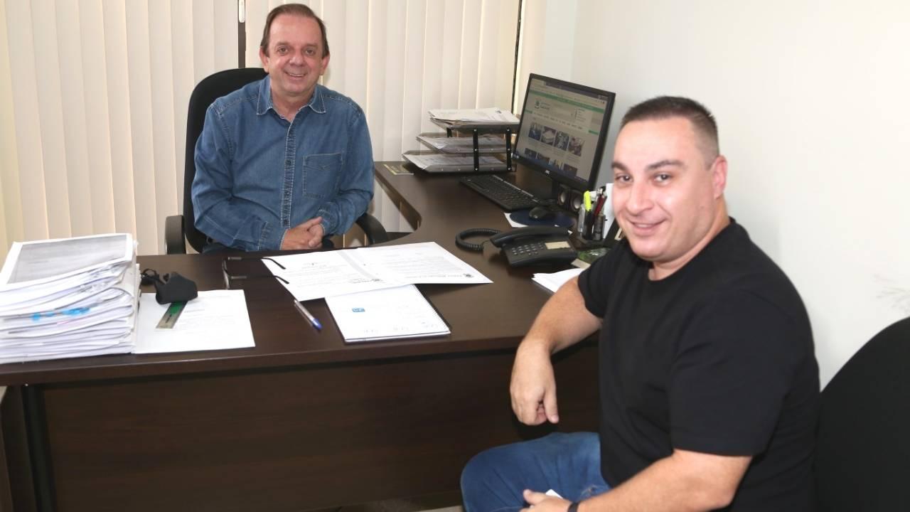 Celso Dal Molin recebe visita e cria parceria com vereador Éveder, de Nova Aurora