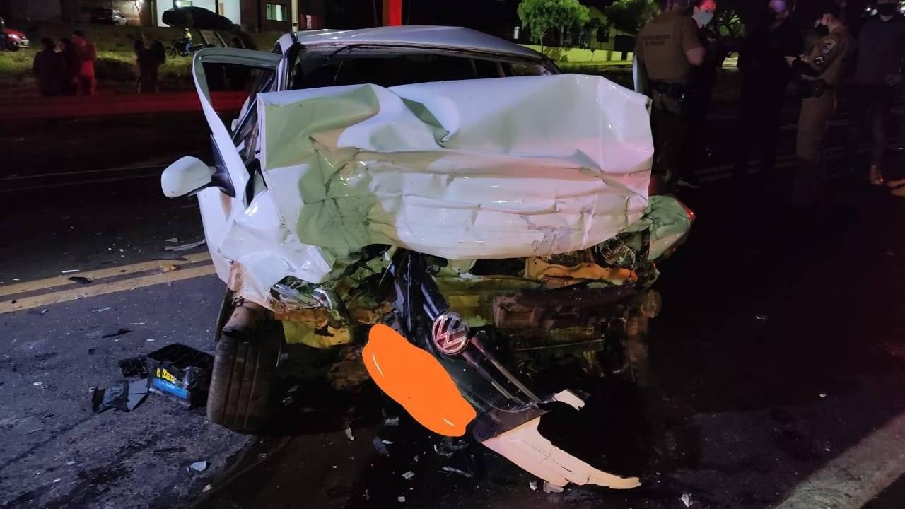 Mulher de 39 anos morre após grave acidente na BR-277 em Laranjeiras do Sul