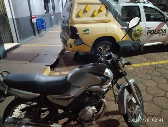 Polícia Militar apreende menor de idade, minutos após furtar motocicleta na Rua Salgado Filho