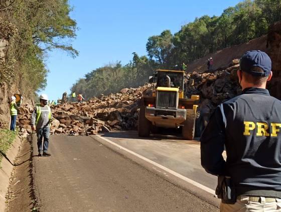 Novas detonações de rochas estão programadas na BR-277 em Guaraniaçu