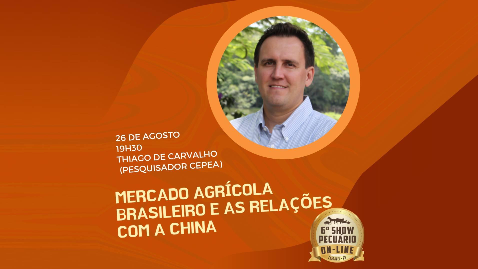 Show Pecuário 2020: Palestra desta quarta será sobre mercado agro e relação com a China