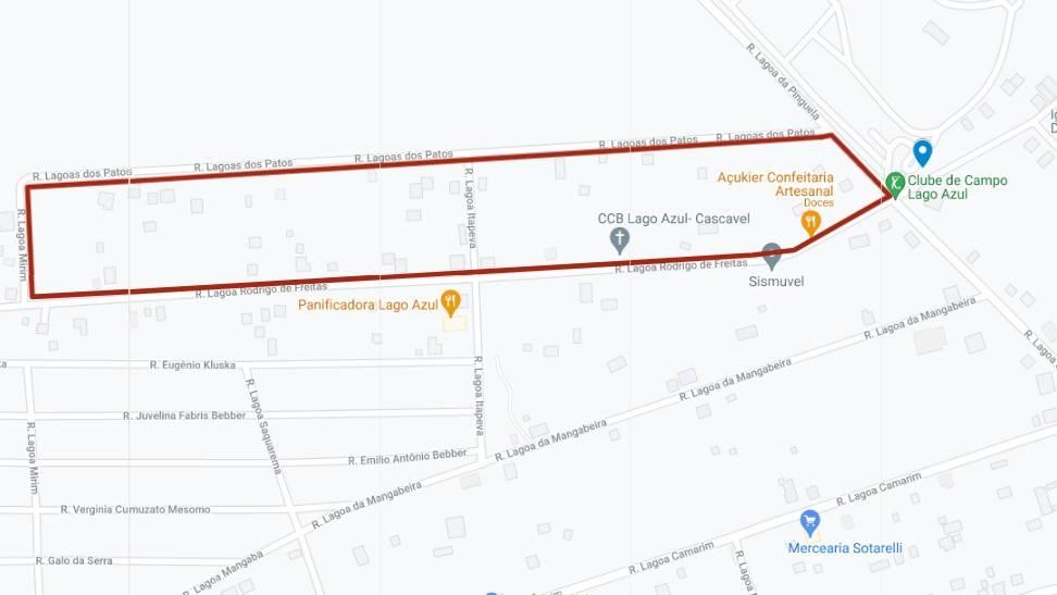 Linha Lago Azul sofre alterações momentâneas durante as obras de implantação do asfalto no bairro