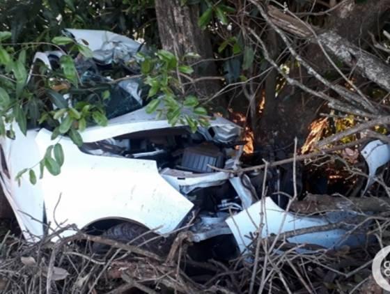 Jovem morre em acidente na PR-495 entre Medianeira e Serranópolis do Iguaçu
