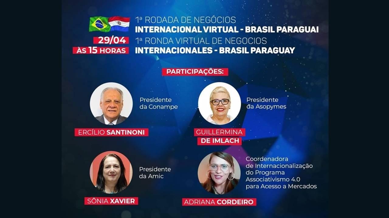 Rodada de negócios virtual reúne empresários do Brasil e do Paraguai