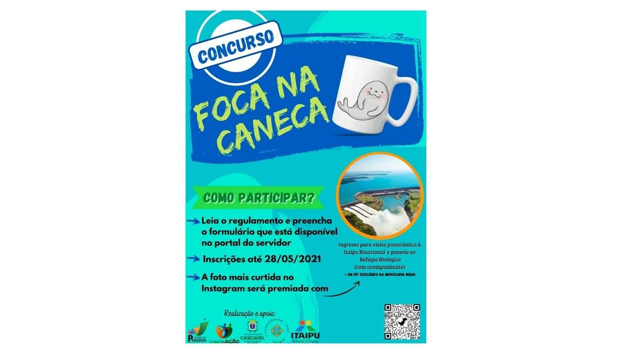 Foca na Caneca: concurso de conscientização ambiental é realizado entre os servidores da Prefeitura