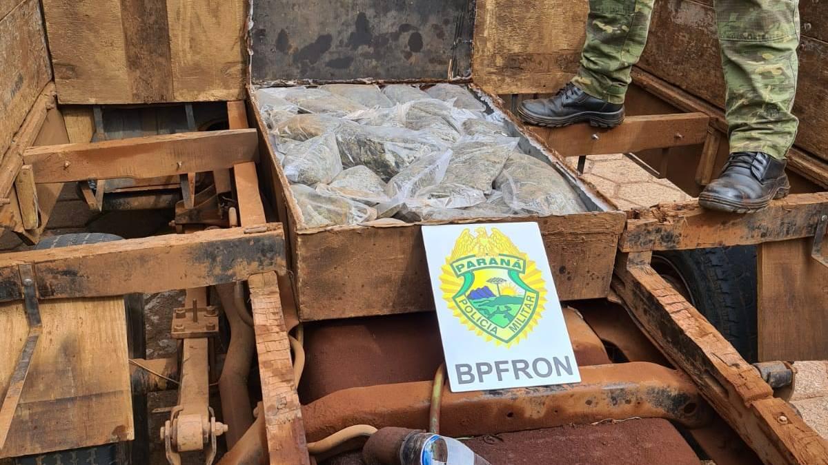 BPFRON apreende droga em veículo durante Operação Hórus em Santa Tereza do Oeste
