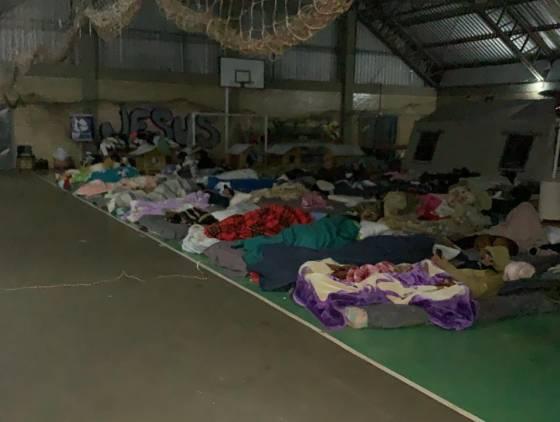 Ginásio do Creas atende mais de 45 pessoas durante frio intenso em Cascavel