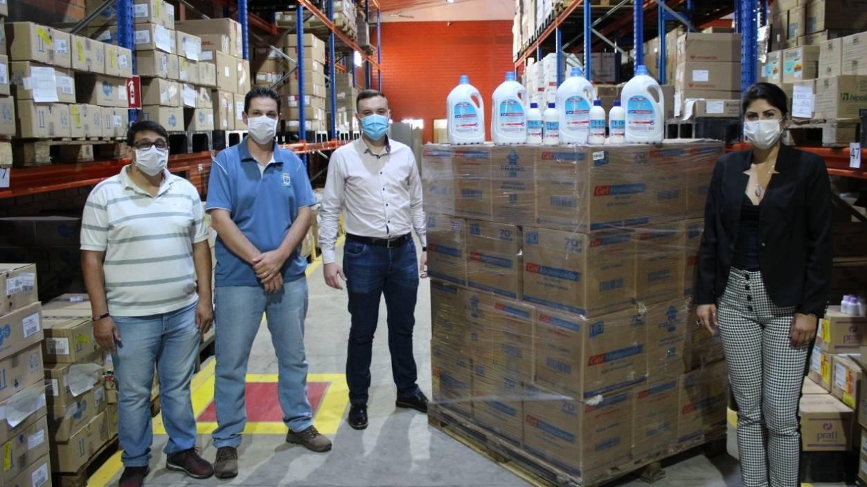 Secretaria de Saúde de Cascavel recebe doação de mil litros de álcool em gel 70%