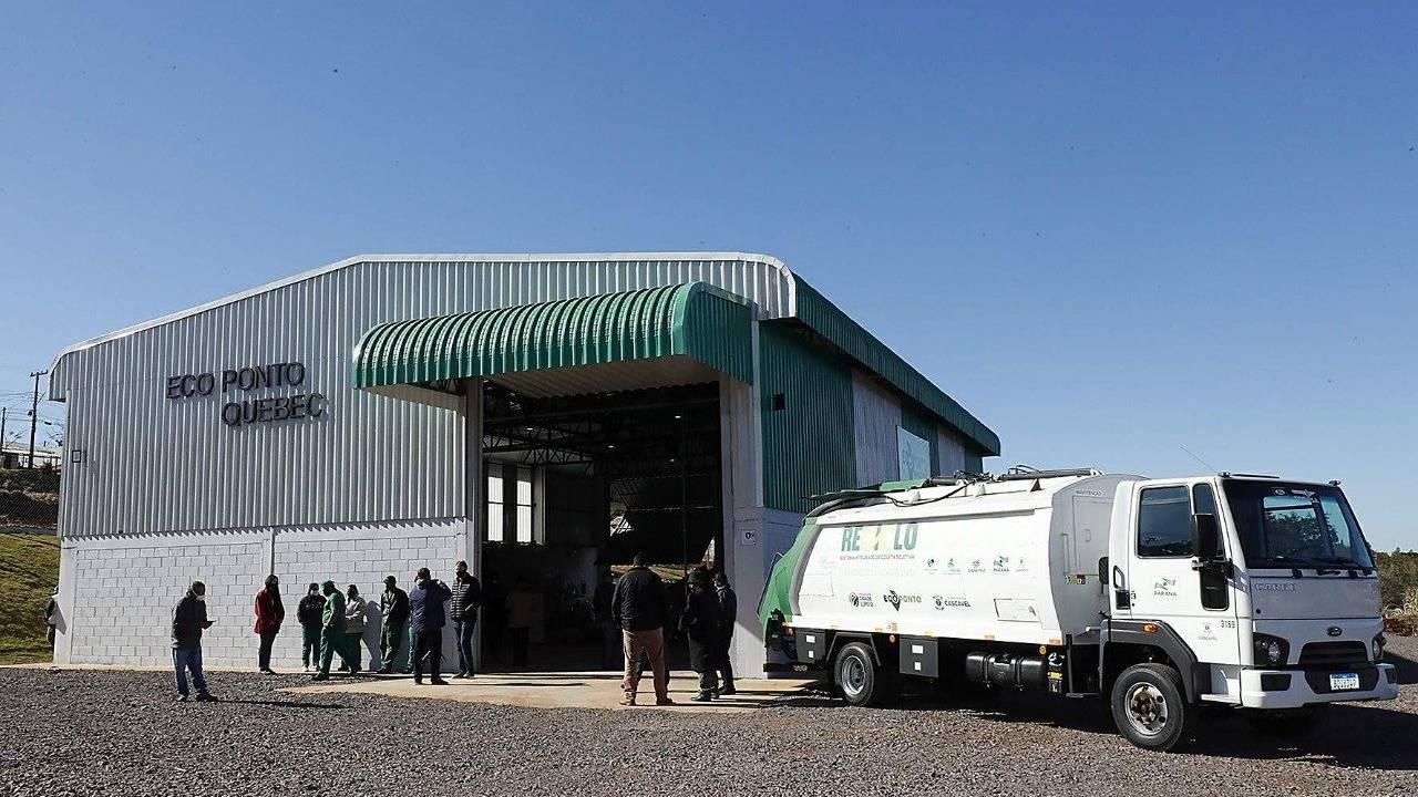Paranhos inaugura o quinto ecoponto em Cascavel