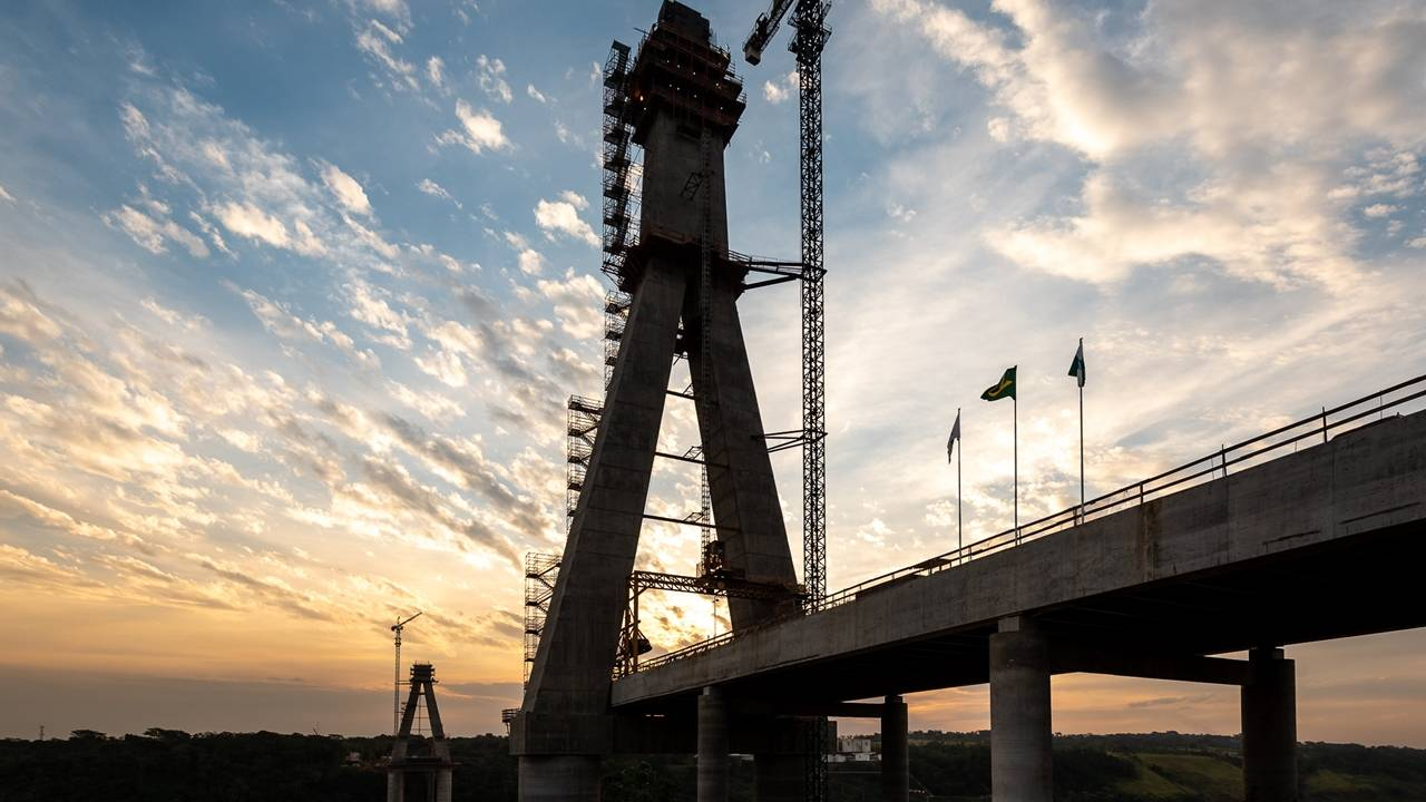 Obras da Ponte da Integração chegam a 64% de execução
