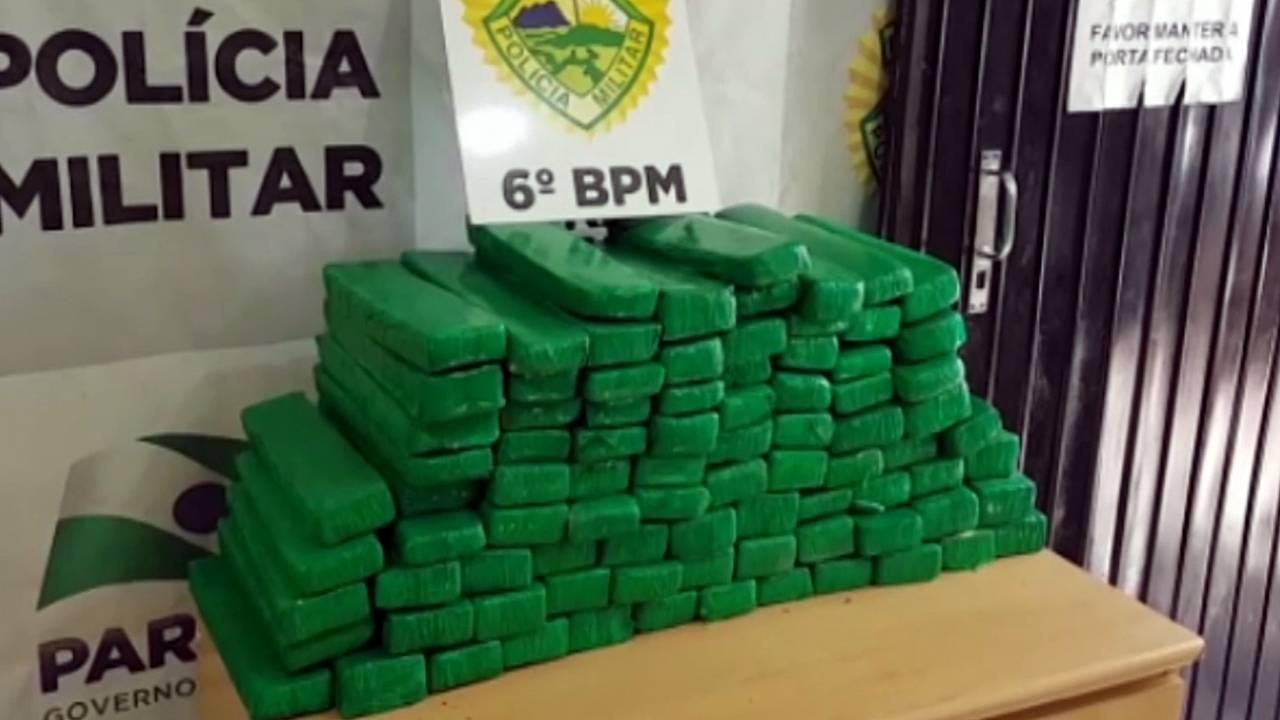 Polícia Militar detém quatro homens e apreende 86 tabletes de maconha na BR-467