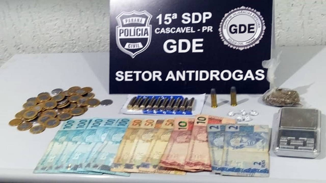 GDE Cascavel apreende dois indivíduos envolvidos no tráfico de drogas no Bairro Santa Cruz