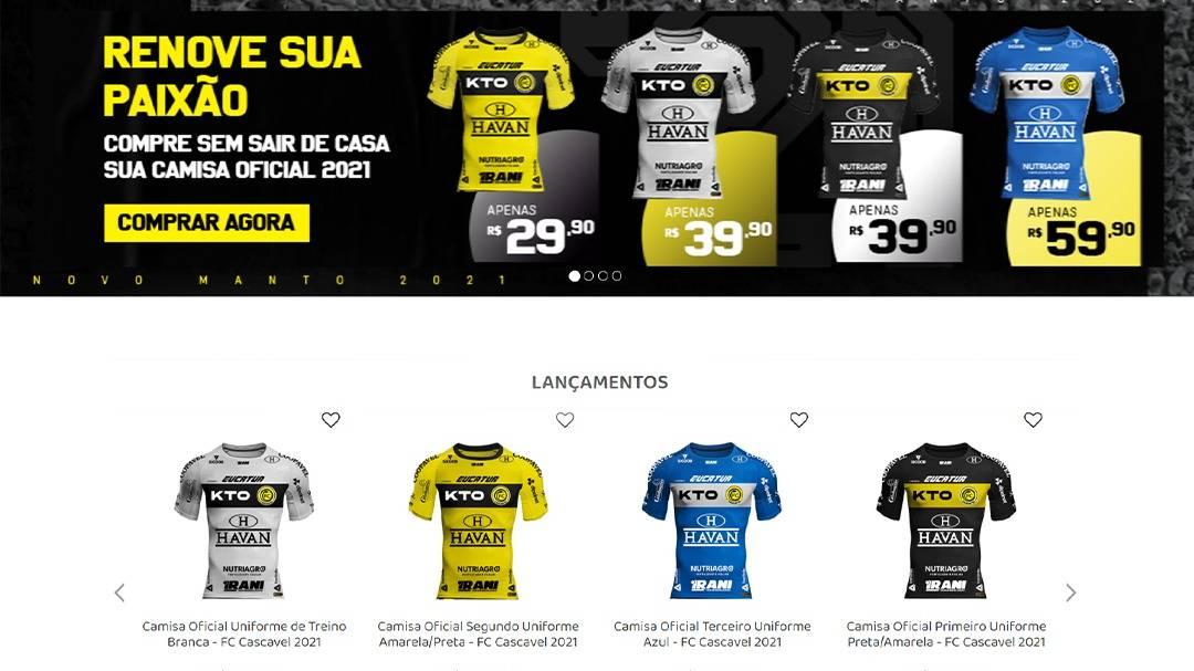 Camisas da temporada 2021 do FC Cascavel já foram vendidas para cerca de 1.000 cidades do Brasil