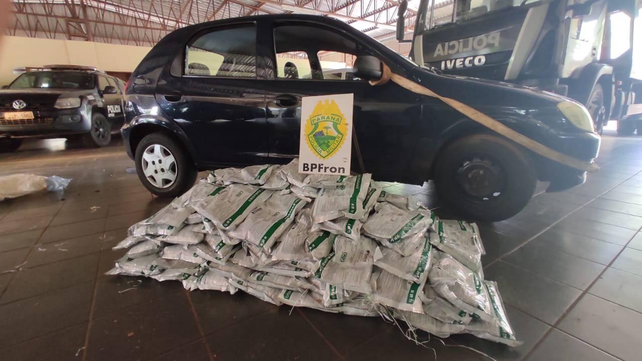 BPFRON apreende carro carregado com agrotóxicos durante Operação Hórus em Guaíra