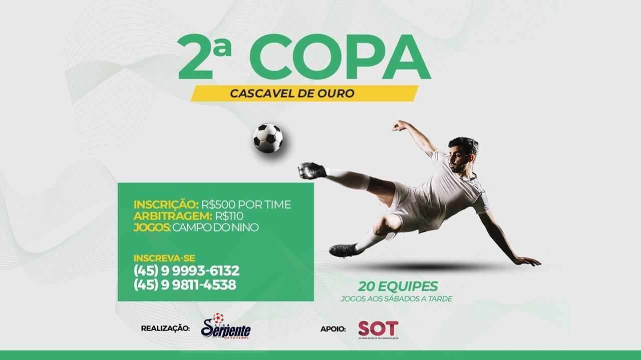 Já estão abertas as inscrições para a 2º Copa Cascavel de Ouro Futebol Suíço