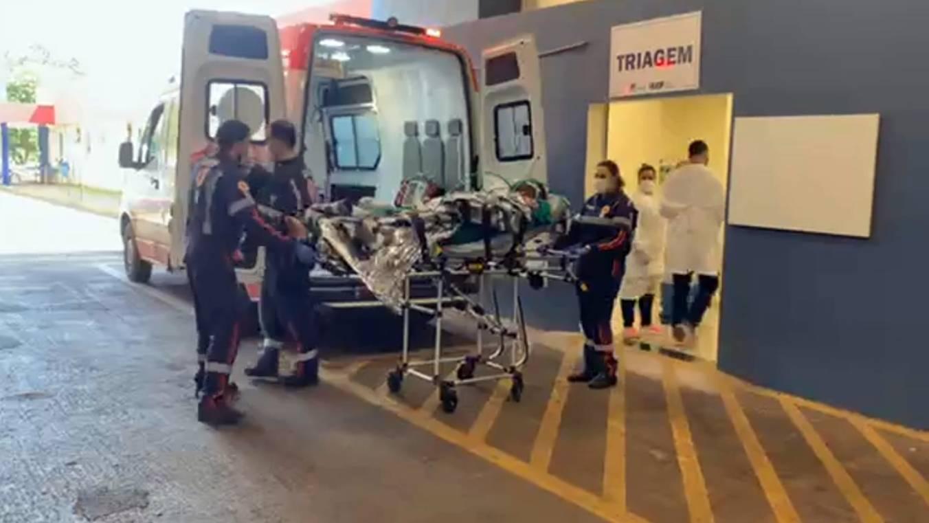 Aeromédico: Vítima de incêndio em Santa Tereza do Oeste é transferida para Londrina