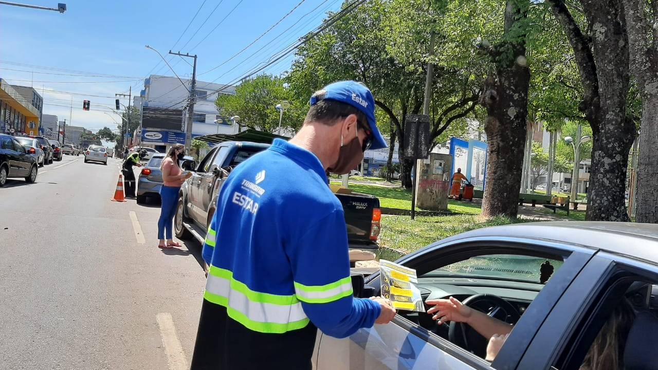 Projeto Cidadão em Trânsito inicia nesta terça, orientando condutores de automóveis