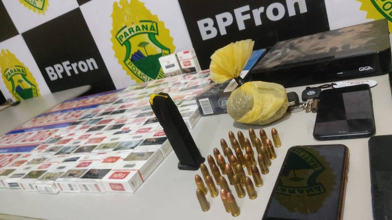 Pelotão do BPFRON em Umuarama apreende munições, animal silvestre abatido