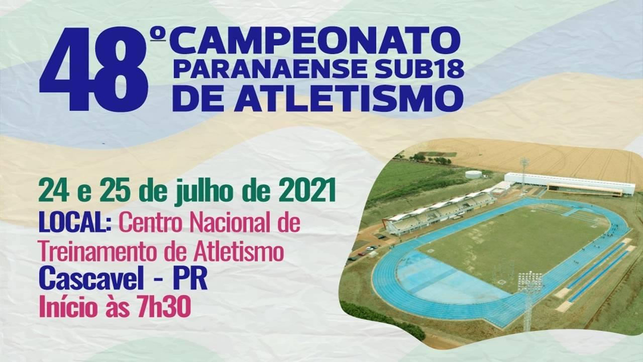 Cascavel recebe atletas para o 48º Campeonato Paranaense de Atletismo