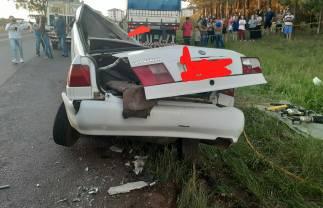Duas pessoas morreram em grave acidente na PR-170 em Guarapuava