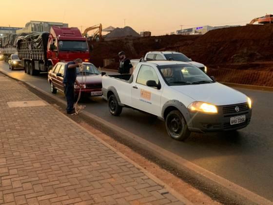Após acidente e falha mecânica; congestionamento na Trevo Cataratas chega aos 3 km