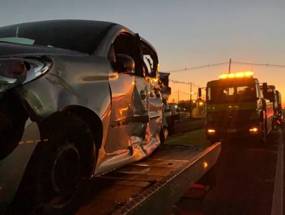 Grave colisão de trânsito deixa passageira em estado grave na rodovia BR-277 em Cascavel