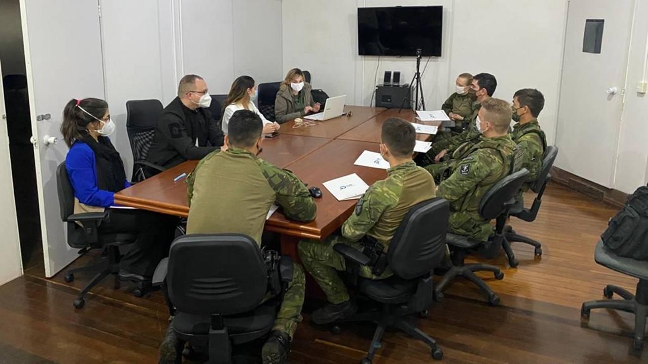 Integrantes do BPFRON se reúnem com membros da Secretaria Nacional de Políticas sobre Drogas